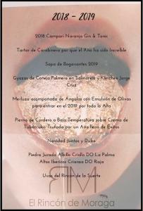 Restaurante Moraga - Celebraciones - Fin de Año